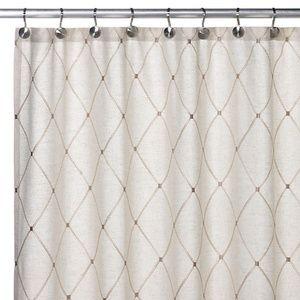 Wellington Linen Blend Beige Shower Curtain